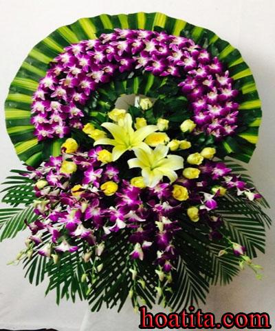 Hoa viếng - chia buồn đám tang tại Shop hoa tươi Long Xuyên
